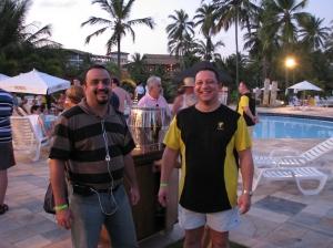 Com Helinho de uma das empresas colaboradoras do evento
